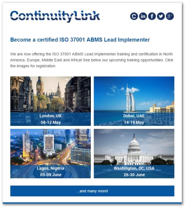 Now offering ISO 37001 LI