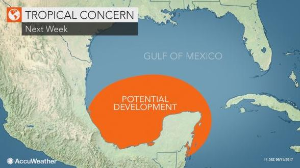 Risk of Gulf of Mexico tropical system increases; Another threat may follow in central Atlantic