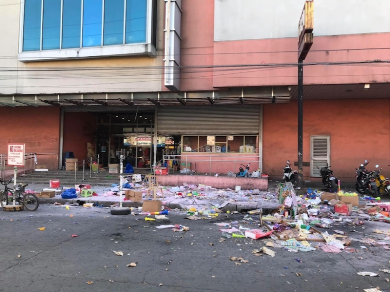 An improvised explosive device went off just outside the South Seas Mall in Cotabato City on December 31 2018