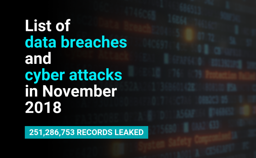 List of data breaches and cyber attacks in November 2018 – 251,286,753 recordsleaked