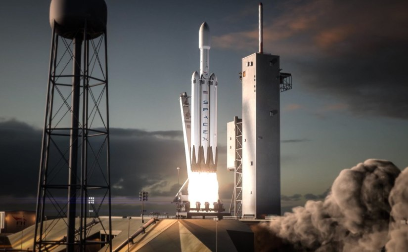Watch the entire SpaceX Falcon Heavy rocket test flight