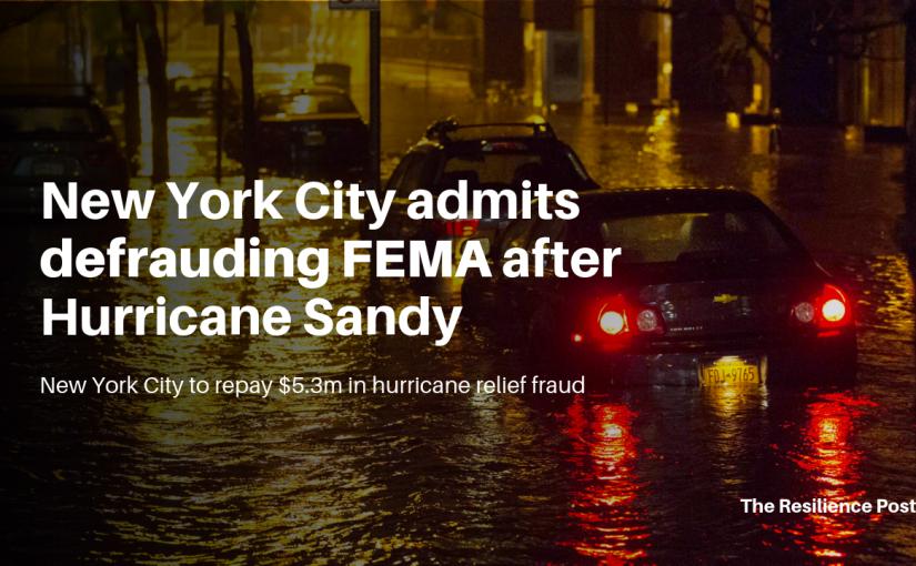 New York City admits defrauding FEMA after HurricaneSandy